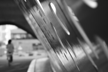 motion blurred motion blur parkbrug antwerpen