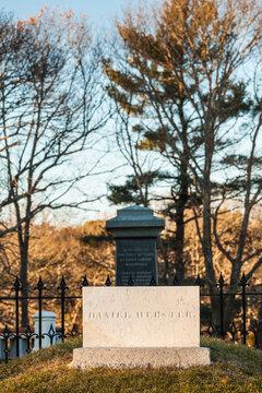 USA, Massachusetts, Marshfield, grave of US statesman Daniel Webster