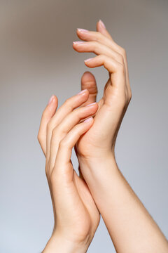 Hands of young woman