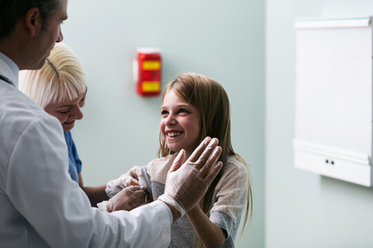Exam: Girl Happy After Getting Vaccination