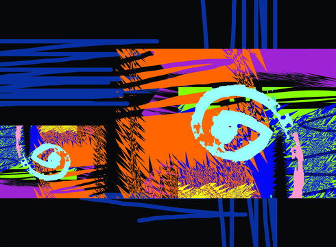 Design abstract and intimate sureal face trends graphic art