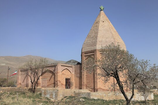Imamzade Ali Mausoleum was built in the 12th century in the medieval period. The tomb is located in the village of Sekermab. Qazvin, Iran.