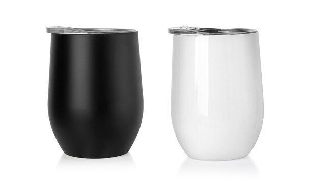 Blank Stainless Steel Stemless Wine Glass Tumbler