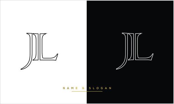 JL ,LJ  Abstract Letters Logo Monogram