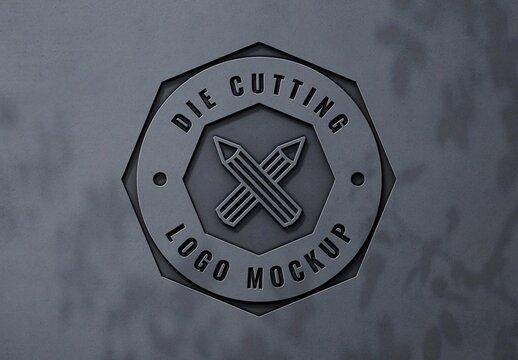 Smooth Laser Cut 3D Logo Mockup
