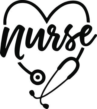 Nurse SVG, Nurselife, Nurse Life, Heart Stethoscope, Nurse Stethoscope,