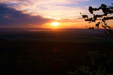 wschód słońca niebo chmury widok krajobraz