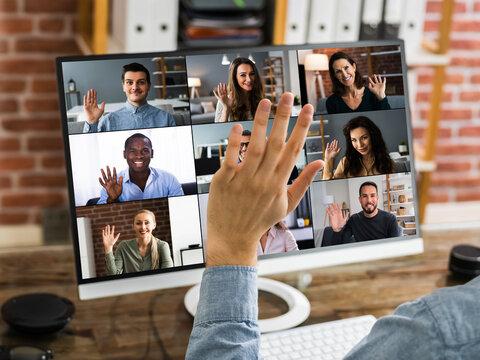 Webinar Video Conferencing On Computer