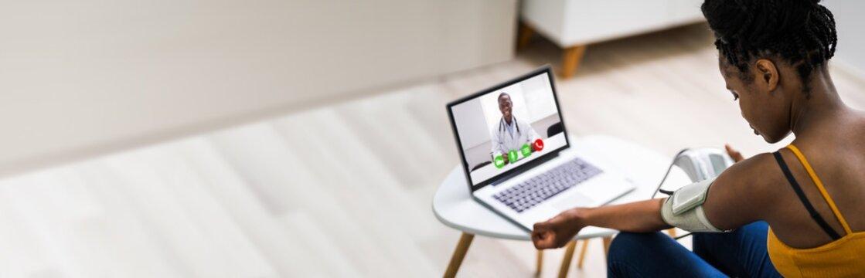 Online Videoconference On Laptop