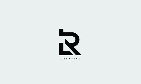 Alphabet letters Initials Monogram logo LR, RL, L, R