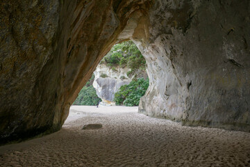 Cathedral Cove in New Zealand