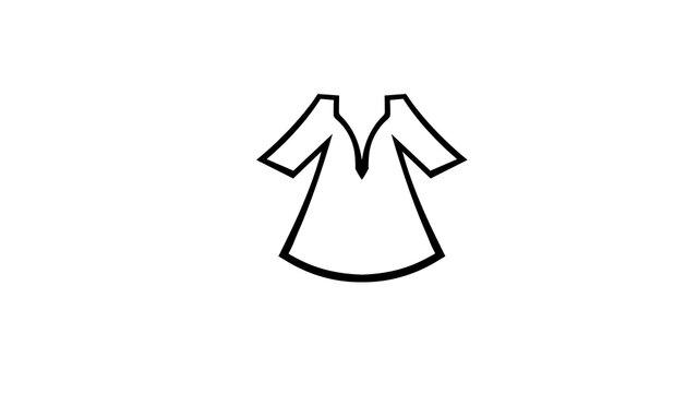 Creative Caftan Clothing Logo Vector