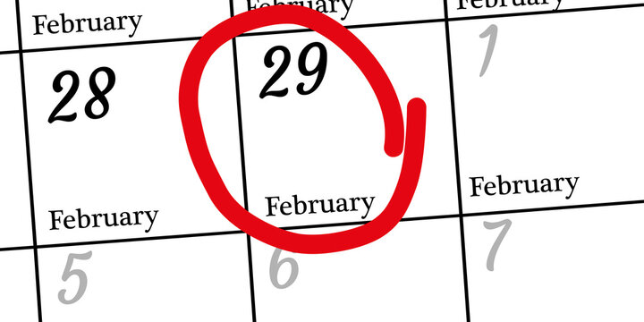 Happy leap day or leap year slogan. Calendar page February 29. Today is one extra day. Vector