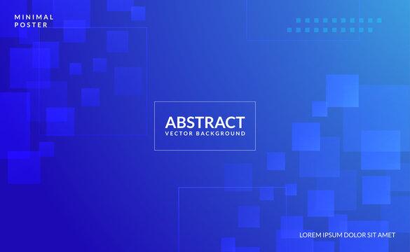 Abstract blue shapes Background 3D Paper Art Style For Cover Design, Book Design, Poster, Flyer, Banner,  webinar, Website Backgrounds or Advertising