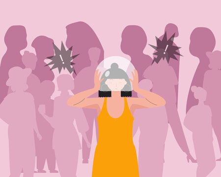 Women with social anxiety disorder or social phobia
