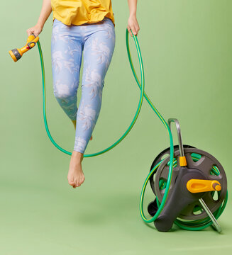 Skipping with a hose