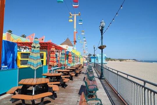 Empty Amusement Park on the Beach