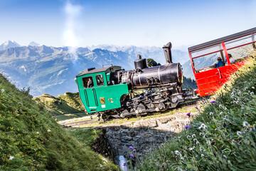 Dampfbetriebene Zahnradbahn, Dampflok, Dampfeisenbahn, Dampfbahn, Dampflokomotive,  Brienz Rothorn...