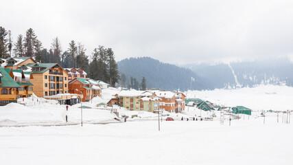 Gulmarg Kashmir during winter