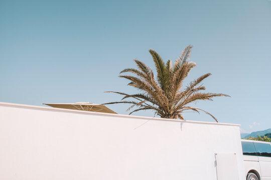 White van in Ibiza