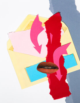 Passionate letter collage