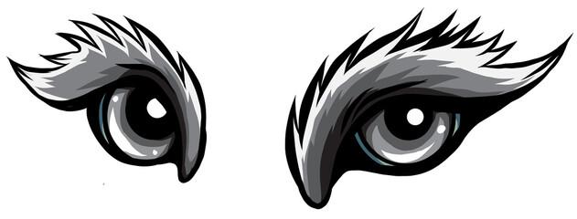Fototapeta monochromatic beast eyes logo icon vector illustration design obraz