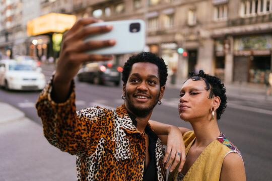 Black fashionable couple