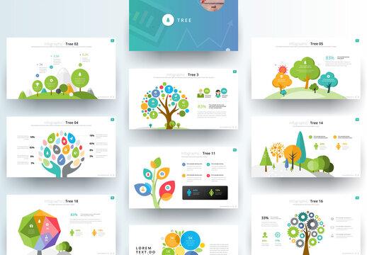 Tree Infographic Presentation Layout