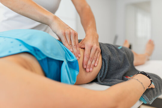 Physiotherapy doing a massage to a woman