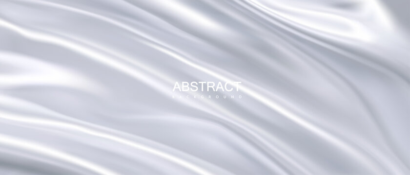 White wavy textile abstract background
