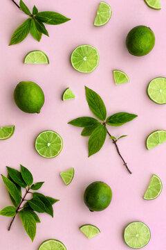 Fresh lime background