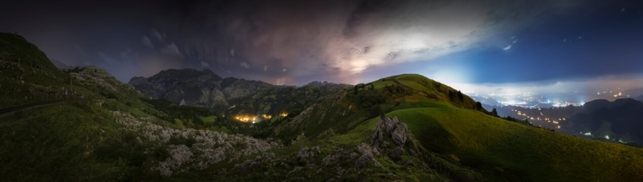 Cloudy Night in the Mountains