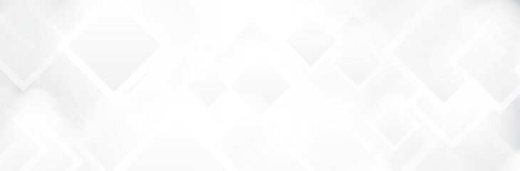 Obraz Abstract White background. Geometric square pattern. Bright Gray backdrop. Neutral calm vector illustration - fototapety do salonu