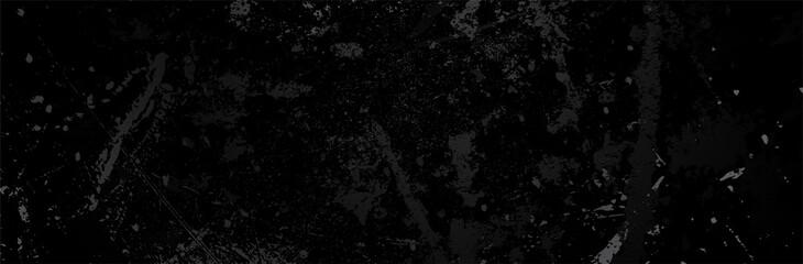 Obraz Black Grunge Background. Dirty metal surface. Dark texture. Vector illustration - fototapety do salonu
