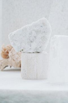 Collection Of White Semi-Precious Stones And Minerals