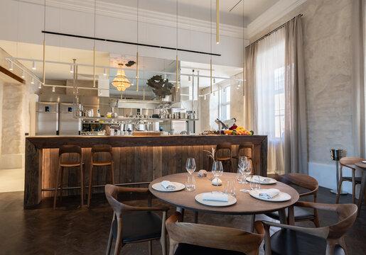 Modern Restaurant With Kitchen