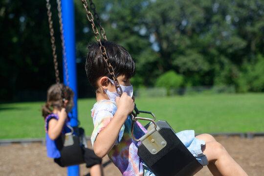Kids playing on school playground