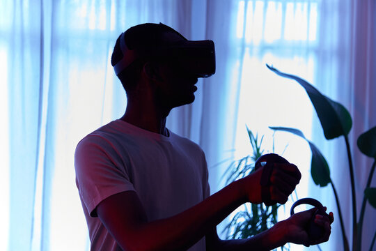 silhouette VR player