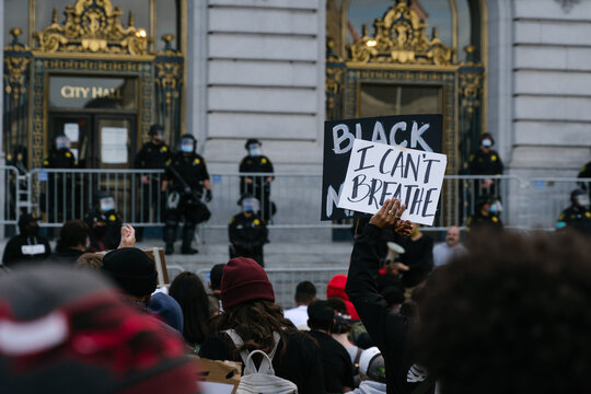 Peaceful protest against police brutality