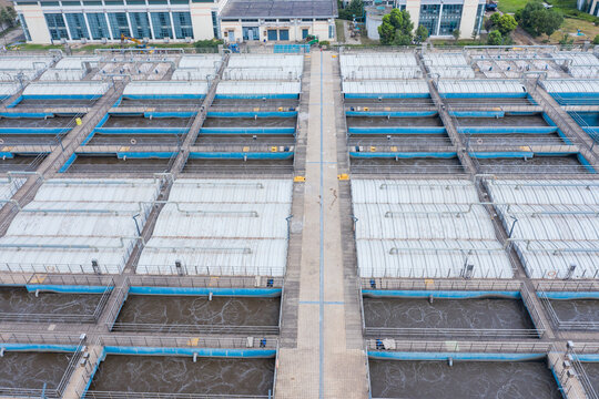 Water Purification Plant from Above