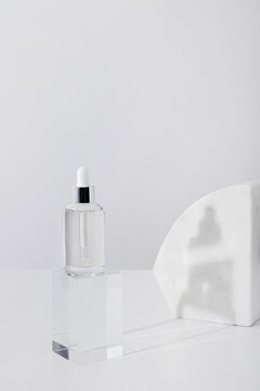 White composition with serum bottle