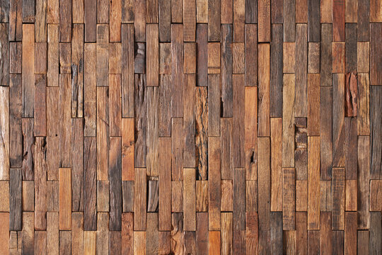 wood texture of wall panel or table. mosaic from old boards