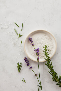 Lavender Rosemary Aromatherapy Flatlay