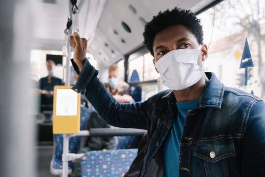 Man Wearing Mask In The Bus