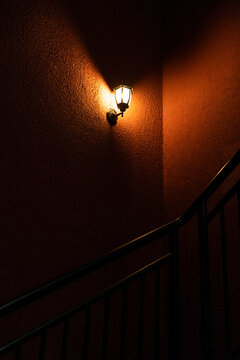 A Street light in the corridor