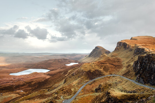 The Quiraing on the Isle of Skye in Scotland