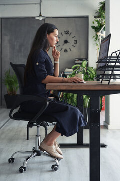 Professional woman working on computer