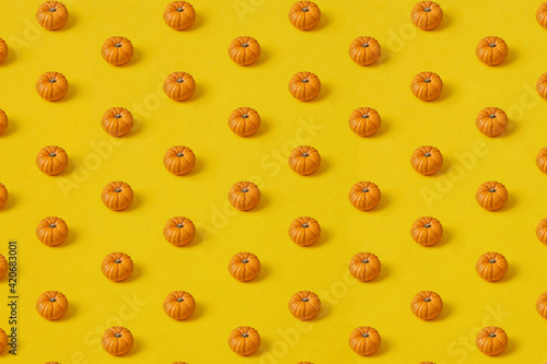 Vegetables horizontal pattern from pumpkins.