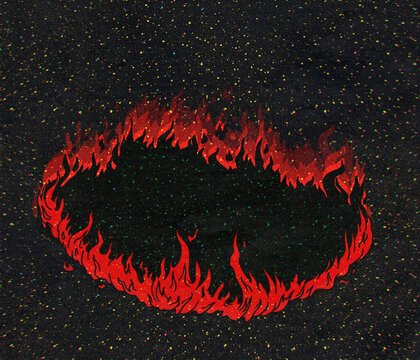 Black Hole As Circle Of Fire In The Universe