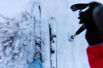 Backcounty skiing in sagebrush country